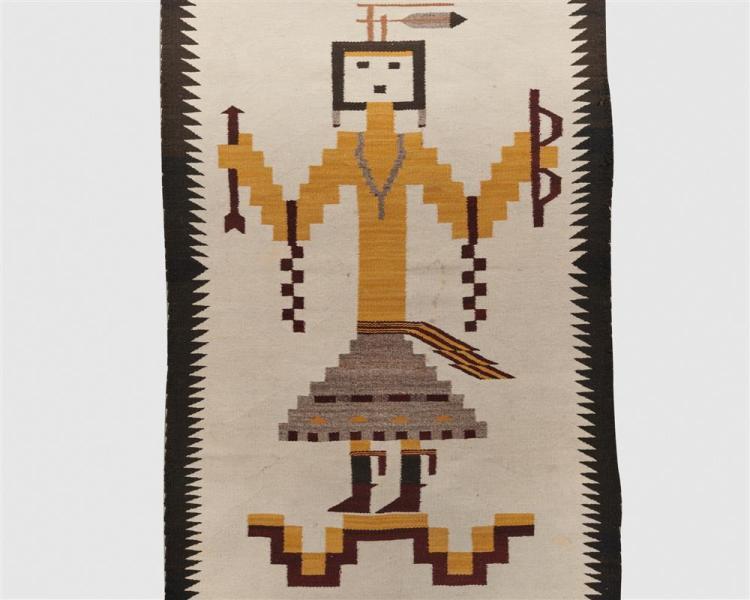 Navajo Yei Rug, ca. 1920; 5 ft. 4 in. x 3 ft. 2 in.