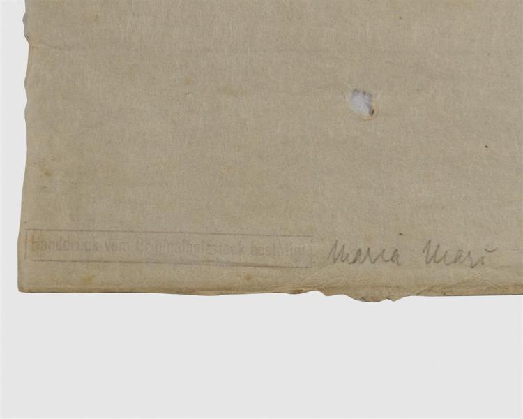 FRANZ MARC, (German, 1880-1916), Schöpfungsgeschichte I (The Creation I), woodcut, 9 3/8 x 7 3/4 in.