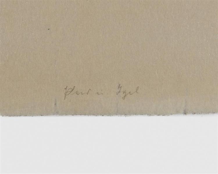FRANZ MARC, (German, 1880-1916), Pferd un Igel (Horse and Hedgehog), woodcut, 6 1/4 x 8 5/8 in.