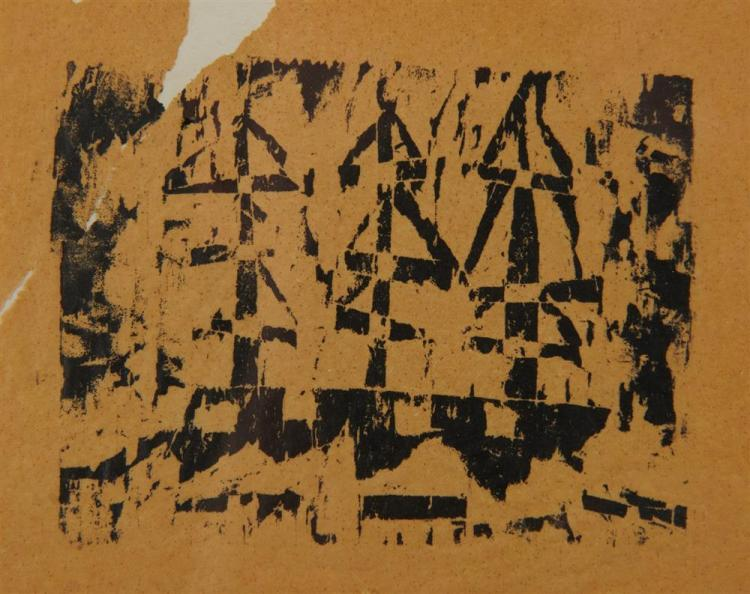 LYONEL and T. LUX FEININGER, (American/German, 1871-1956), Untitled (Ship), woodcut, 2 5/8 x 3 5/8 in.