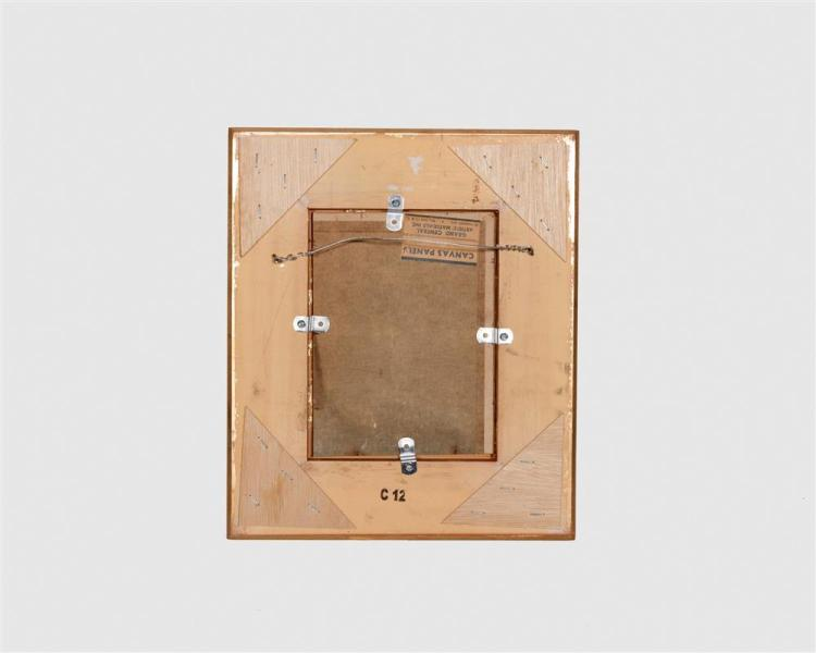 JOHANN BERTHELSEN, (American, 1883-1972), Union Square, New York, oil on canvas board, 6 x 8 in.; frame: 13 3/8 x 11 3/8 in.