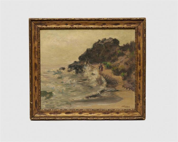 JOHN NELSON MARBLE, (American, 1855-1918), The Playful Sea, 1912, oil on canvas, 13 1/2 x 11 1/2 in.