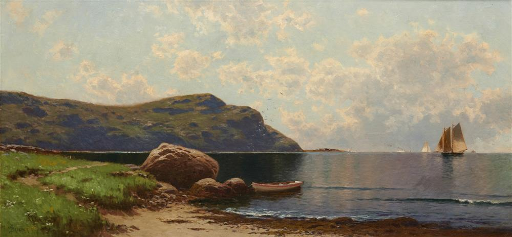 ALFRED THOMPSON BRICHER, (American, 1837-1908), Summer Afternoon (Grand Manan), oil on canvas, 18 x 38 in.; frame: 32 1/2 x 52 1/2 in.