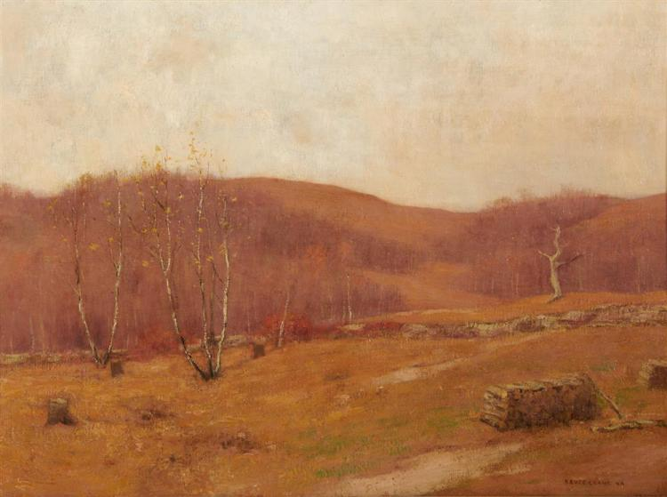 ROBERT BRUCE CRANE, (American, 1857-1937), Month of November, oil on canvas, 22 x 30 in., frame: 31 1/2 x 39 in.