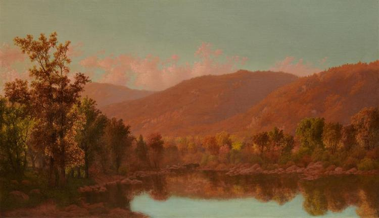 CHARLES HENRY EATON, (American, 1850-1901), Autumn Landscape, oil on canvas, 27 x 46 in.