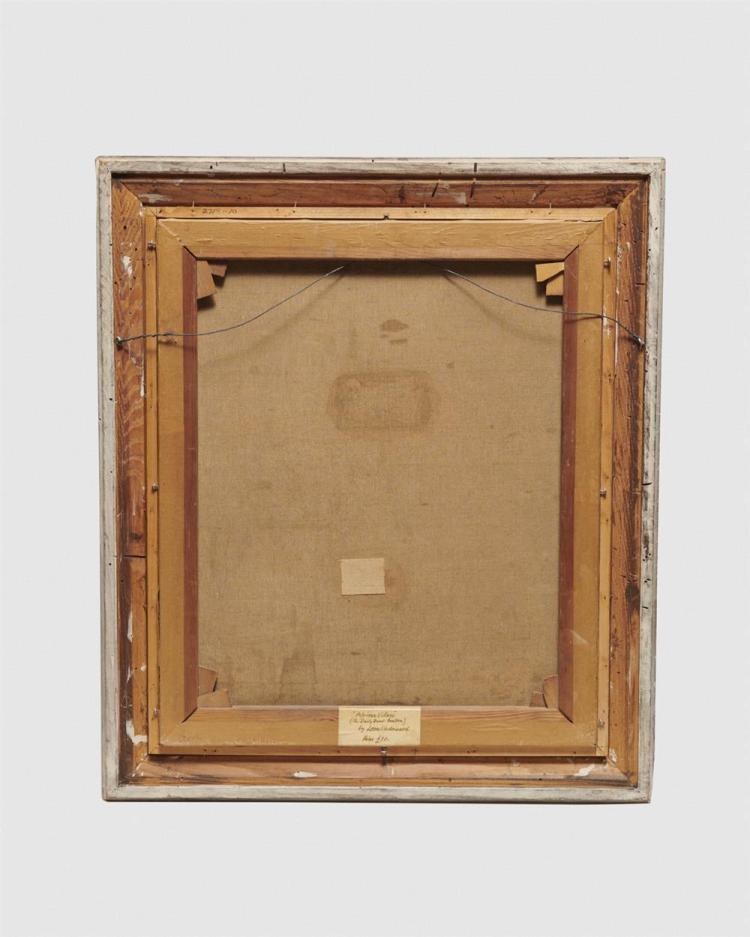 LEON UNDERWOOD, (British, 1890-1975), Atriean Village (The Daily Bread - Fou Fou), oil on canvas, 20 x 24 in.