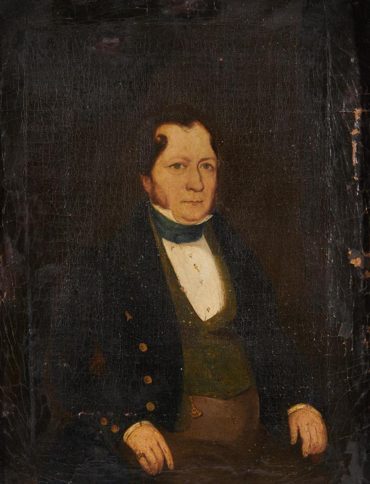 AMERICAN SCHOOL, (19th century), Five Portraits, oil on canvas