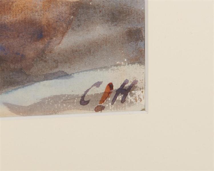 CHARLES SYDNEY HOPKINSON, (American, 1869-1962), Western Avenue Bridge, Boston, watercolor, sight: 9 1/2 x 14 in., frame: 18 x 22 in.