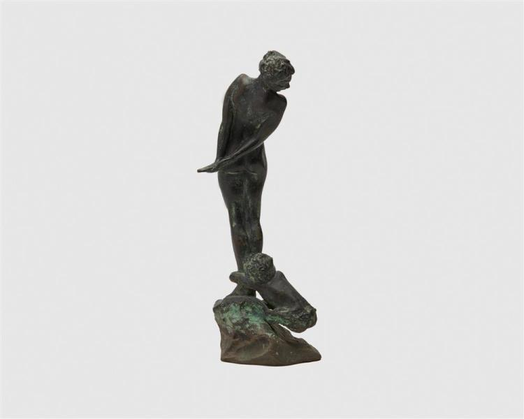 GRACE HELEN TALBOT, (American, 1901-1971), Nymph and Young Satyr, bronze, height: 10 1/2 in.