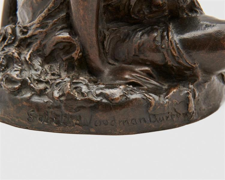EDITH WOODMAN BURROUGHS, (American, 1871-1916), Leda, bronze, height: 6 3/4 in.