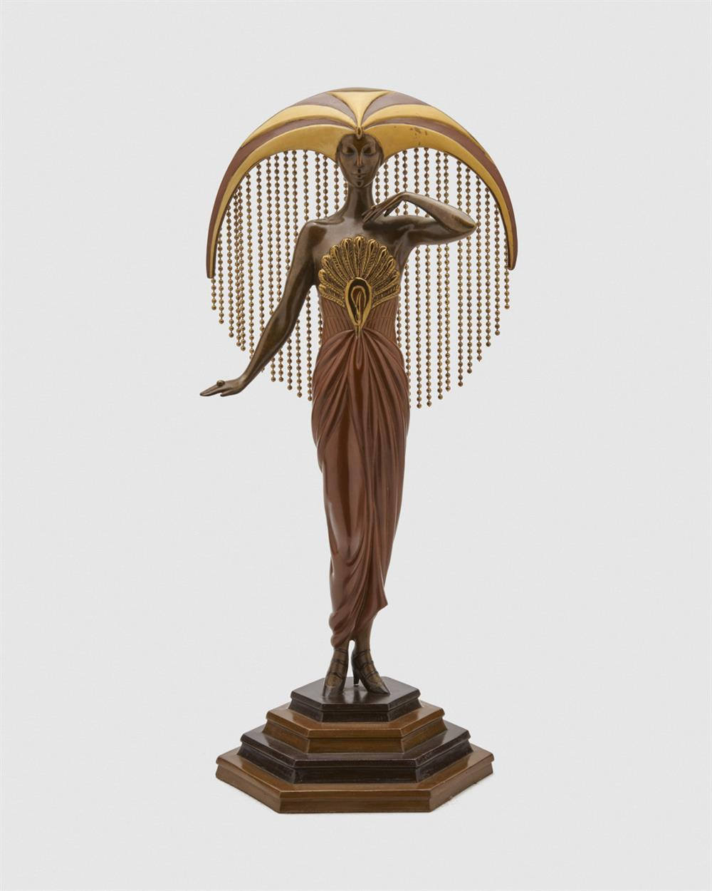 ERTÉ , (French, 1892-1990), Le Soleil, bronze, height: 17 3/4 in.