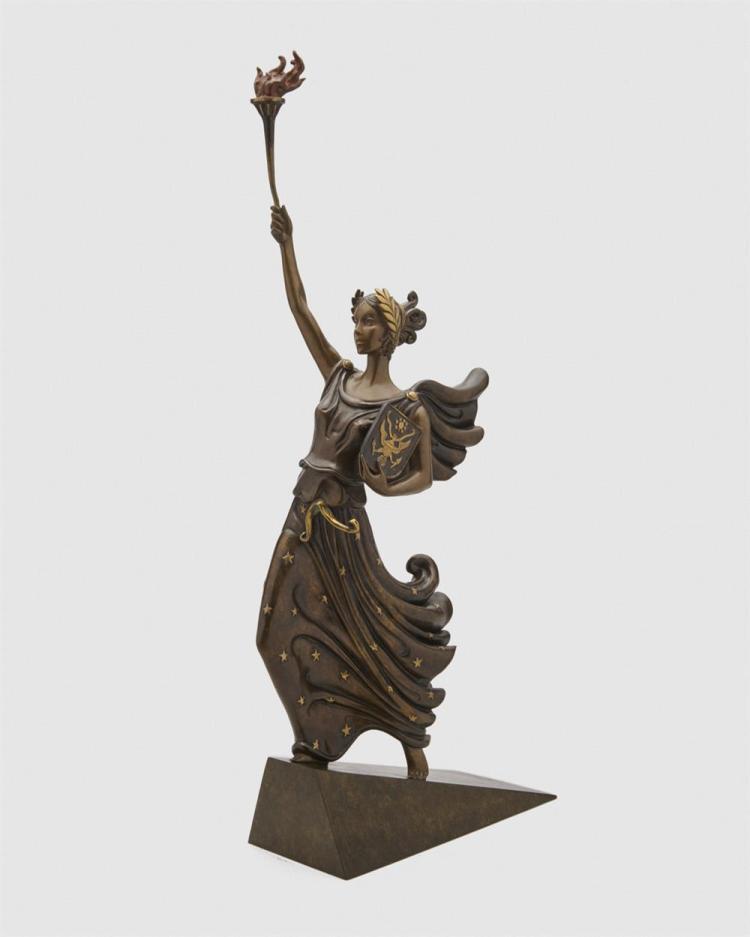 ERTÉ , (French, 1892-1990), Liberte, bronze, height: 28 1/2 in.