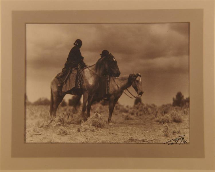 EDWARD SHERIFF CURTIS, (American, 1868-1952), The Women of the Desert, double border silver gelatin print, image: 5 5/8 x 7 5/8 in., sheet: 10 3/8 x 12 3/8 in.