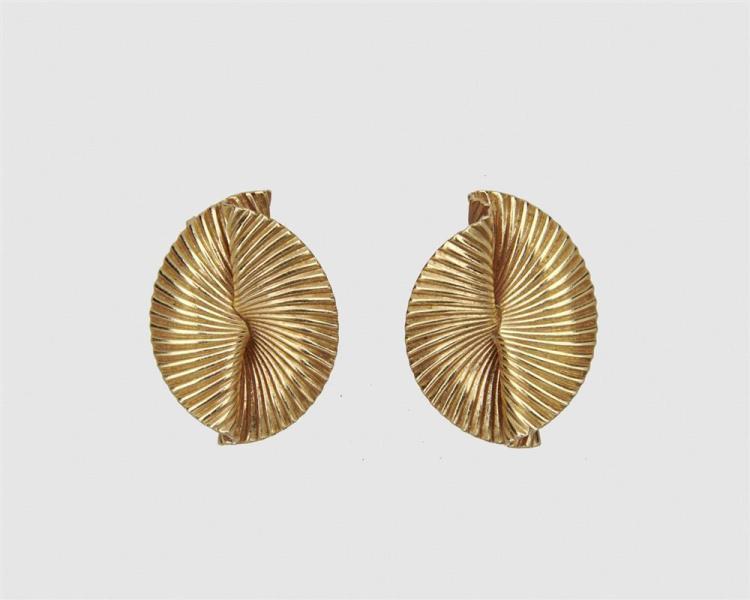 TIFFANY & CO. 14K Gold Earclips