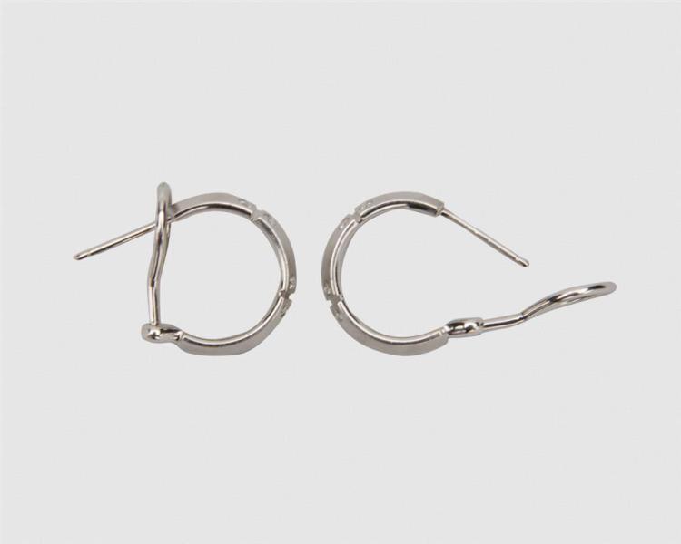 TIFFANY & CO. 18K Gold and Diamond Hoop Earrings