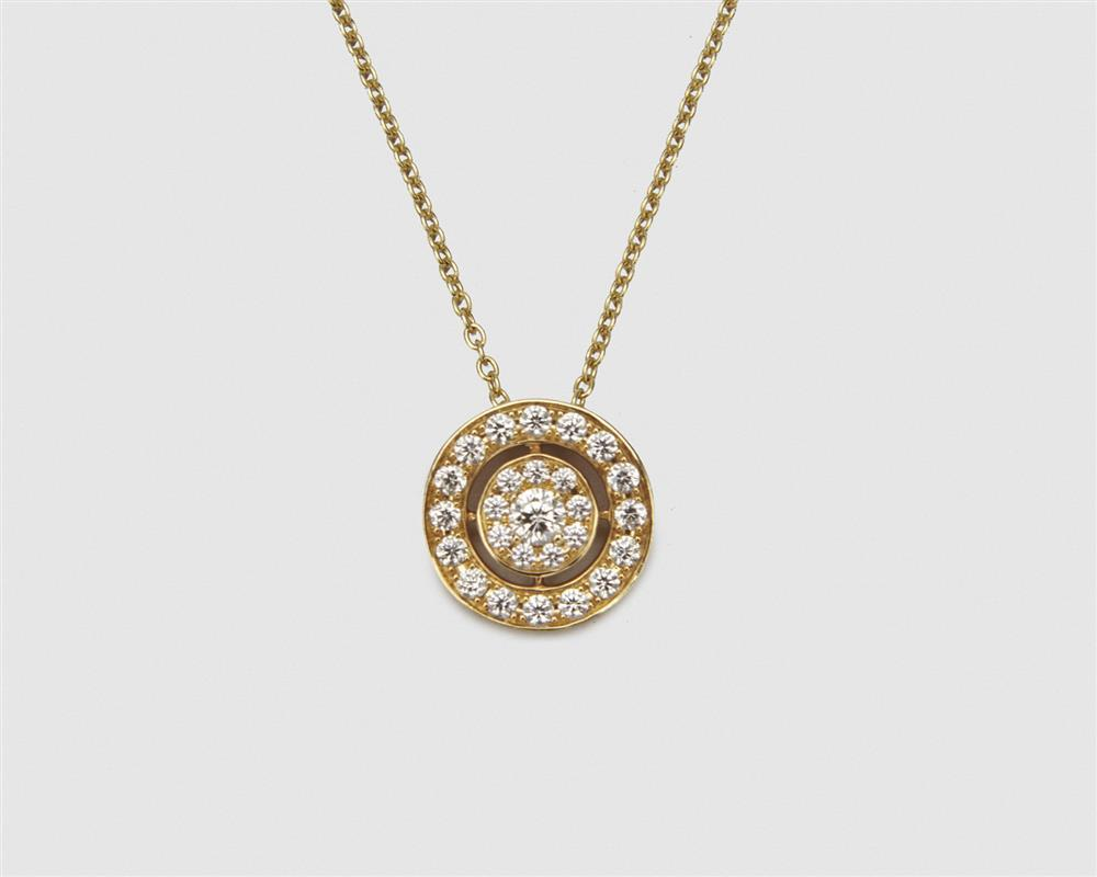HEARTS ON FIRE 18K Gold and Diamond Pendant Necklace