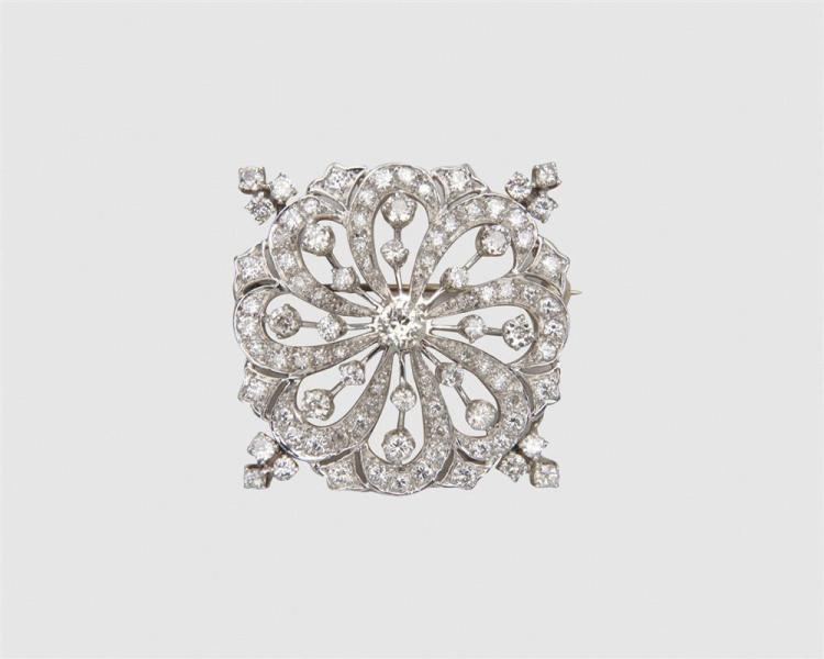 Platinum and Diamond Brooch