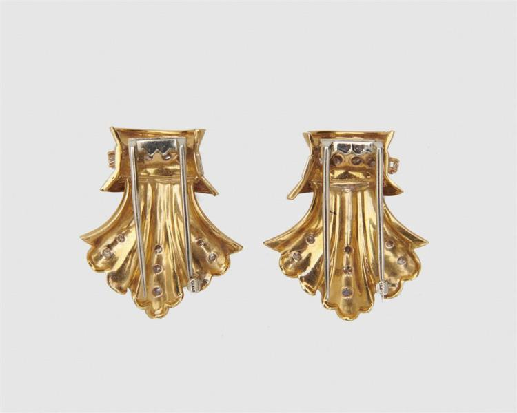 14K Gold and Diamond Brooches