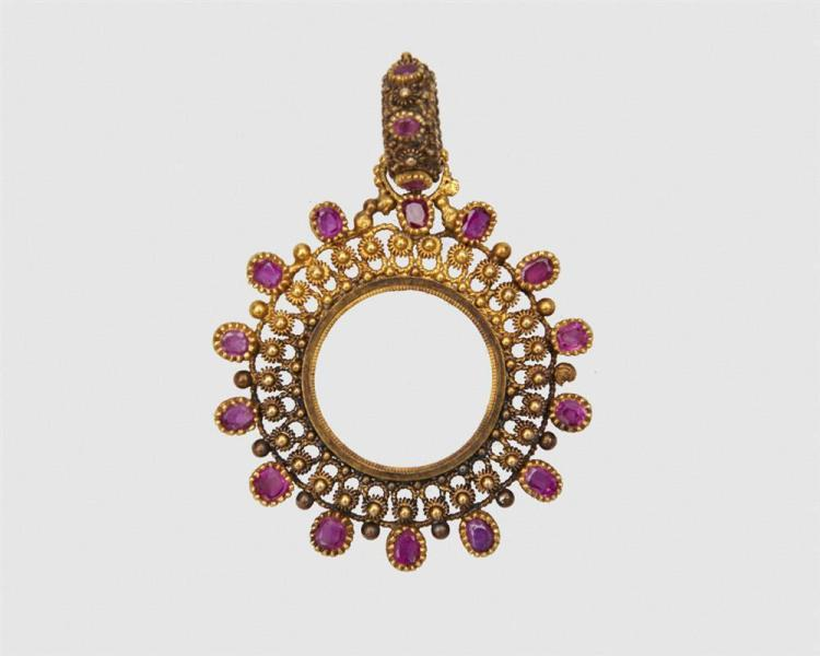18K Gold and Ruby Pendant