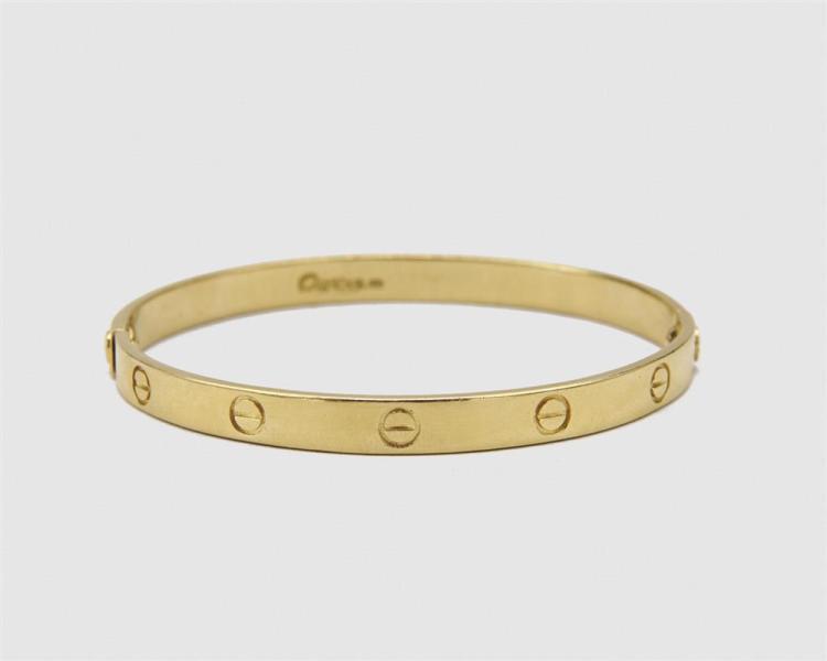 """18K Gold Cartier-style """"Love"""" Bracelet"""
