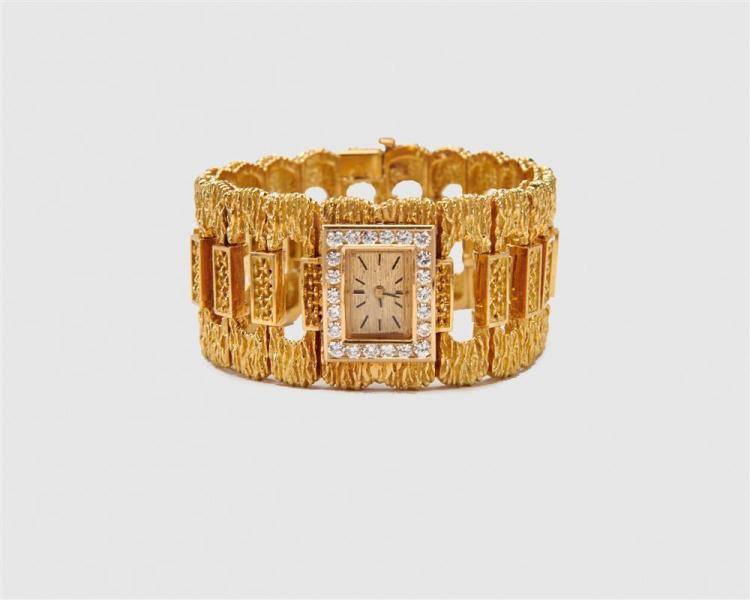 18K Gold and Diamond Wristwatch