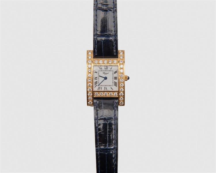 CHOPARD 18K Gold and Diamond Wristwatch
