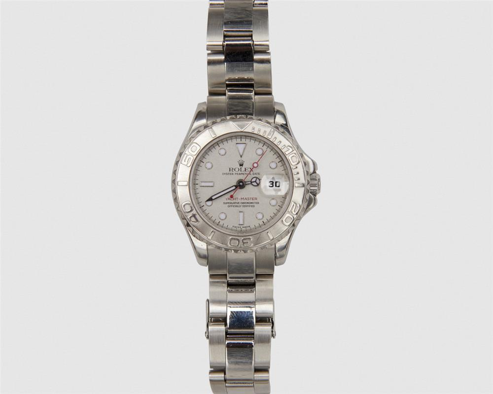 """ROLEX Stainless """"Yacht-Master Oyster Perpetual Date"""" Wristwatch"""