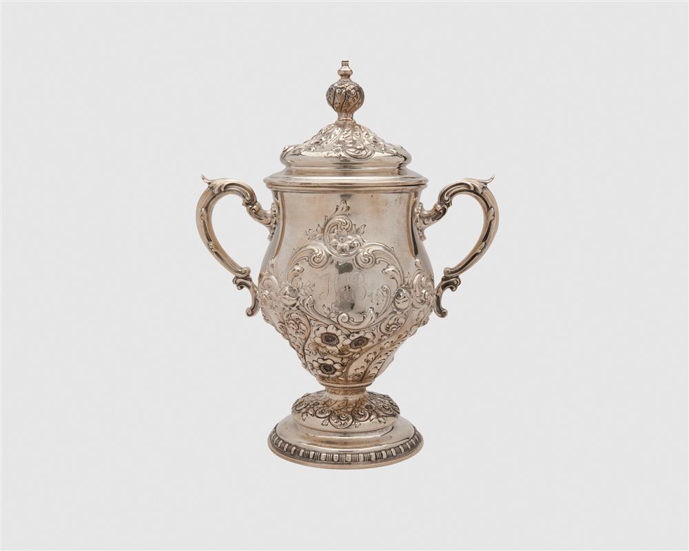 GORHAM Silver Two Handled Covered Trophy Vase