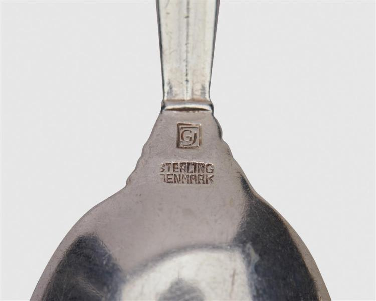 GEORG JENSEN Silver Flatware Partial Service for Twelve, Acanthus Pattern