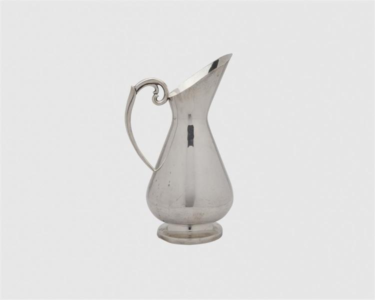 GEORG JENSEN Silver Ladle together with a Mexican Silver Water Pitcher