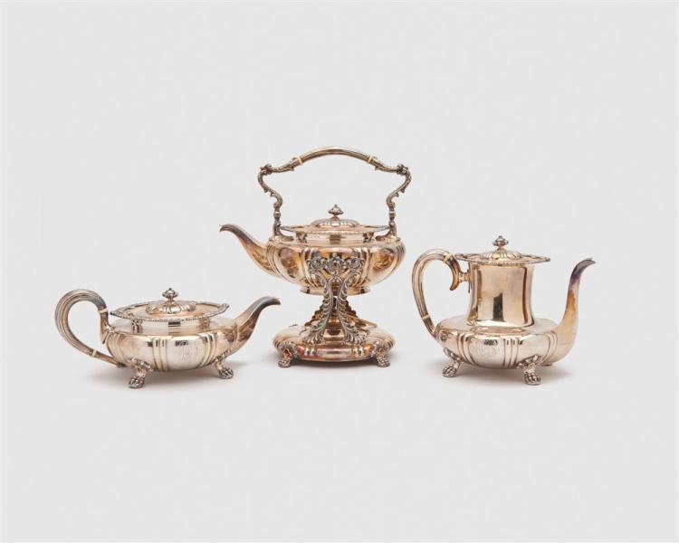 DOMINICK & HAFF Silver Six Piece Tea and Coffee Service, J. E. Caldwell & Co., Philadelphia, retailer