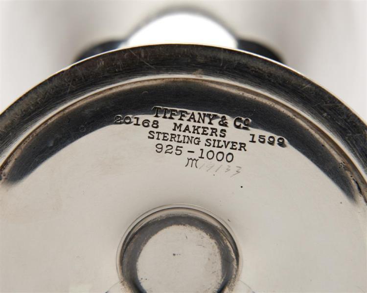 TIFFANY & CO. Four Silver Goblets