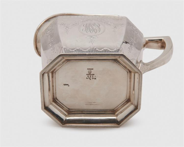 TIFFANY & CO. Silver Fruit Bowl, 1907-1938, together with a WM. B. DURGIN CO. Silver Water Pitcher, ca. 1920