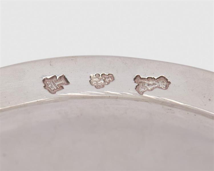 JEAN FRANCOIS VEYRAT Silver Circular Plate, Paris, 1832-1840, together with a Continental Silver Serving Plate, with crest