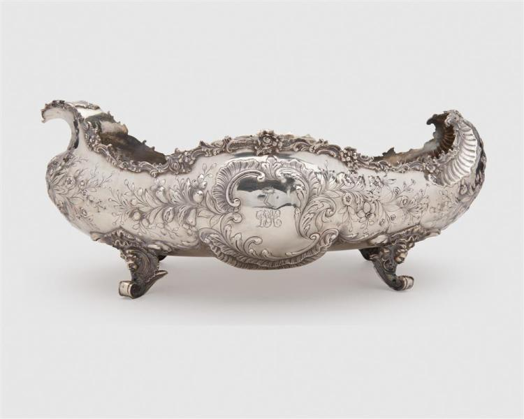 German Baroque Style Rocaille Form Footed Jardiniere