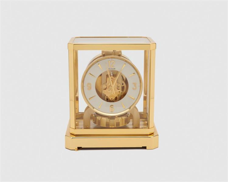 """JAEGER LE COULTRE """"Atmos"""" Brass Mantel Clock, Switzerland, 20th century"""