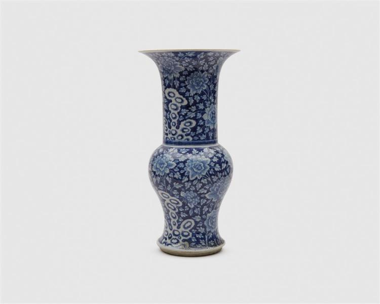 Chinese Blue and White Phoenix Tail Vase