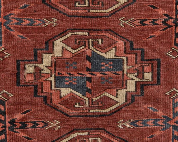 Turkoman Chuval, ca. 1875; 3 ft. 6 in. x 2 ft. 9 1/2 in.