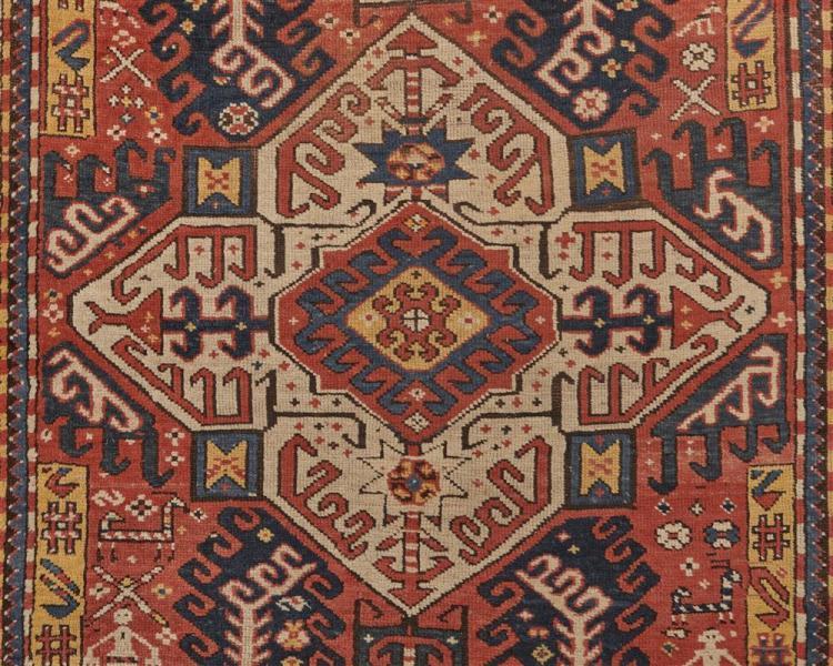 Kazak Rug, Caucasus, ca. 1900; 8 ft. 5 in. x 4 ft. 2 in.
