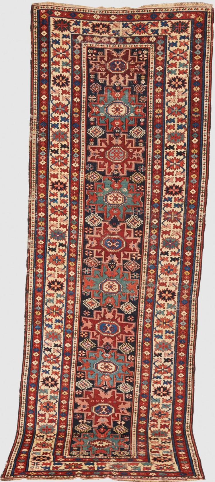 Lesghi Runner, Caucasus, ca. 1880; 9 ft. 11 in. x 3 ft. 5 1/2 in.