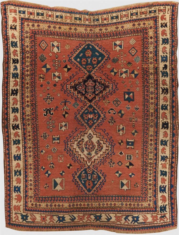 Kazak Rug, Caucasus, ca. 1875; 5 ft. 5 in. x 4 ft. 2 1/2 in.
