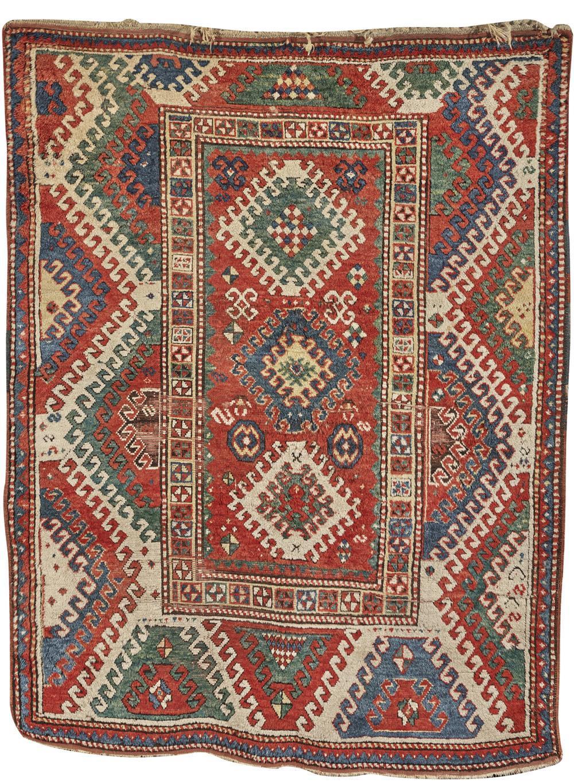 Borjalou Kazak Rug, Caucasus, late 19th century; 7 ft. 5 in. x 5 ft. 7 in.