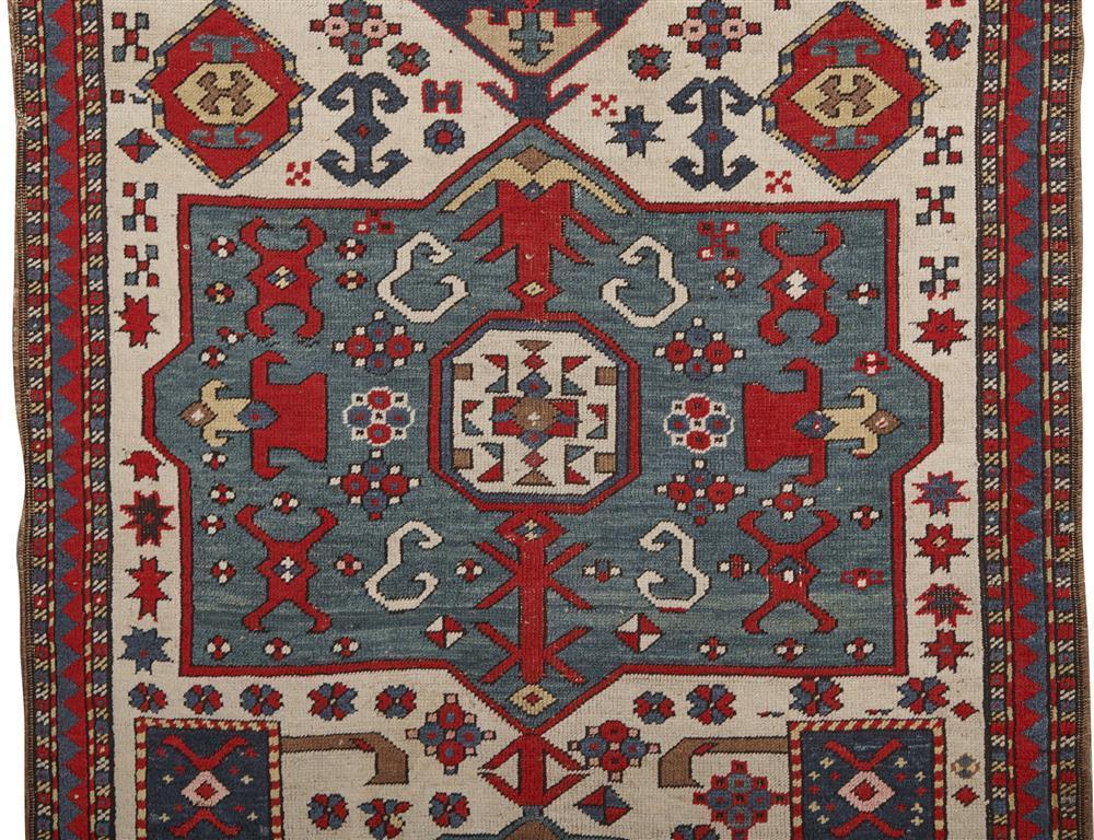 Caucasian Prayer Rug, ca. 1900; 4 ft. 10 in. x 3 ft. 7 in.