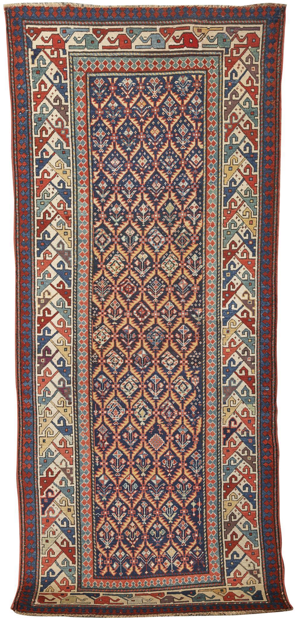 Caucasian Long Rug, ca. 1910; 8 ft. 10 in. x 3 ft. 9 in.