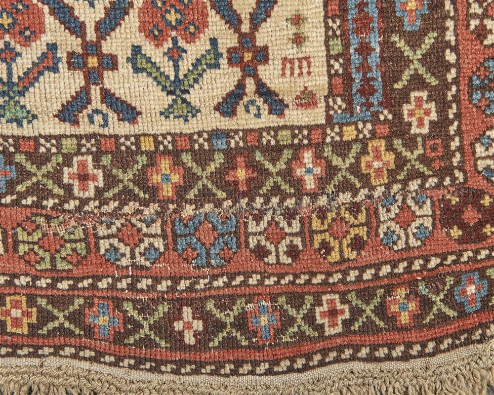 Caucasian Prayer Rug, ca. 1900; 4 ft. 10 in. x 3 ft. 8 in.