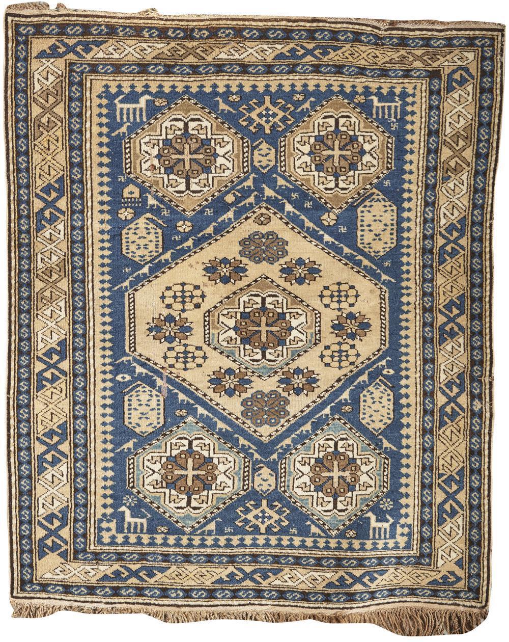 Baku Small Rug, Caucasus, ca. 1900; 3 ft. 7 in. x 3 ft.