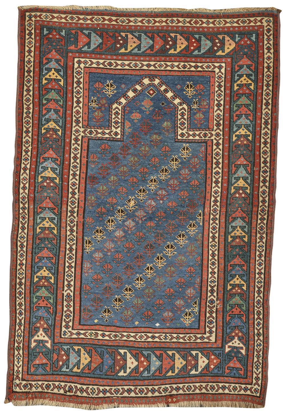 Caucasian Prayer Rug, ca. 1910; 4 ft. 3 in. x 2 ft. 10 in.