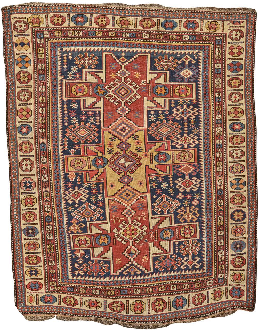 Lesghi Rug, Caucasus, ca. 1910; 5 ft. 6 in. x 4 ft. 3 in.