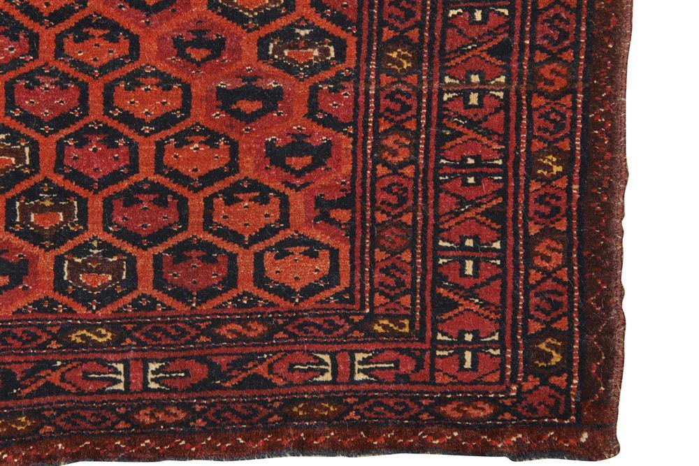Saryk Torba, Turkestan, late 19th century, with silk highlights; 3 ft. 11 in. x 1 ft. 3 in.
