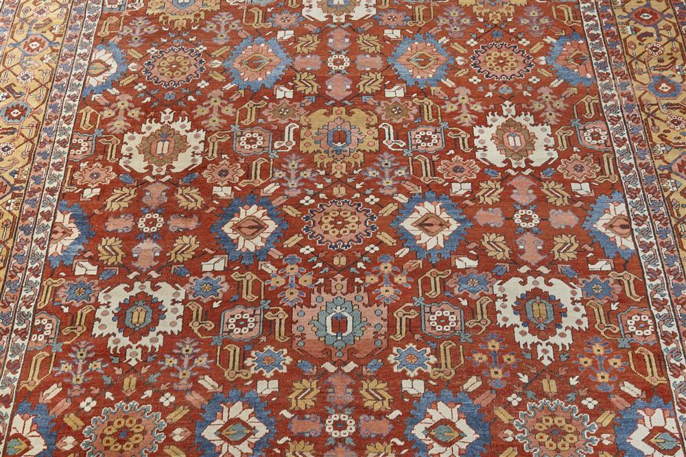 Heriz Carpet, Persia, ca. 1900; 21 ft. 11 in. x 11 ft. 8 in.